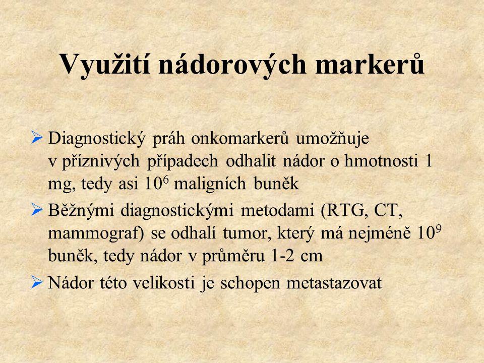 Využití nádorových markerů