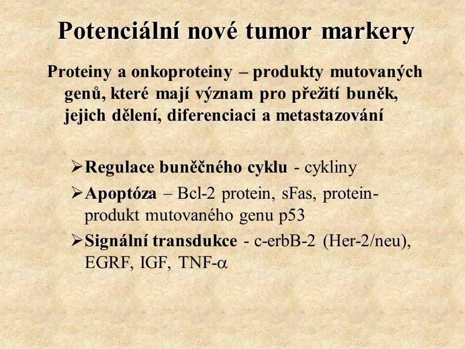 Potenciální nové tumor markery