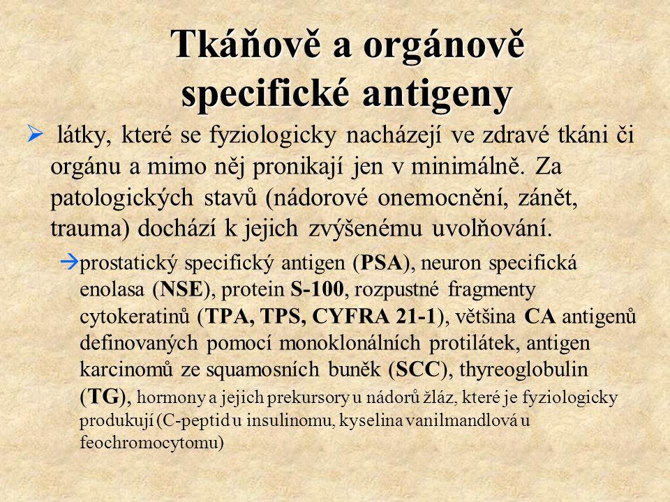Tkáňově a orgánově specifické antigeny