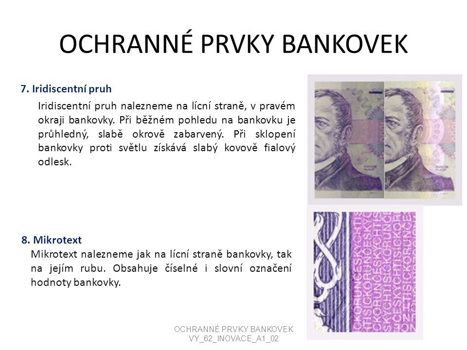 OCHRANNÉ PRVKY BANKOVEK