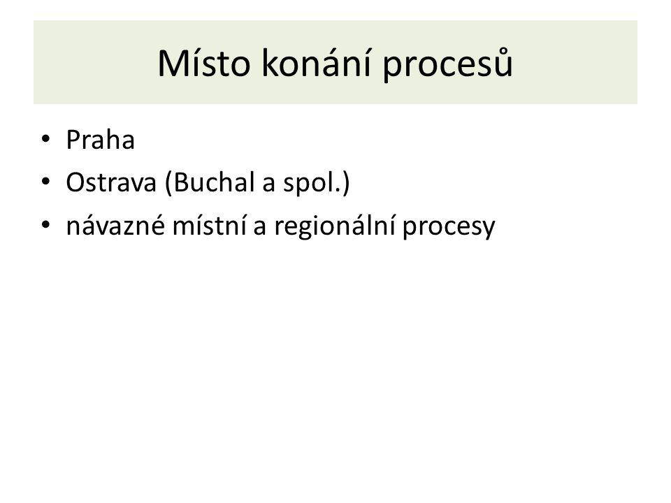 Místo konání procesů Praha Ostrava (Buchal a spol.)