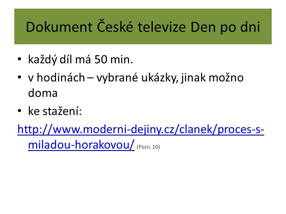 Dokument České televize Den po dni