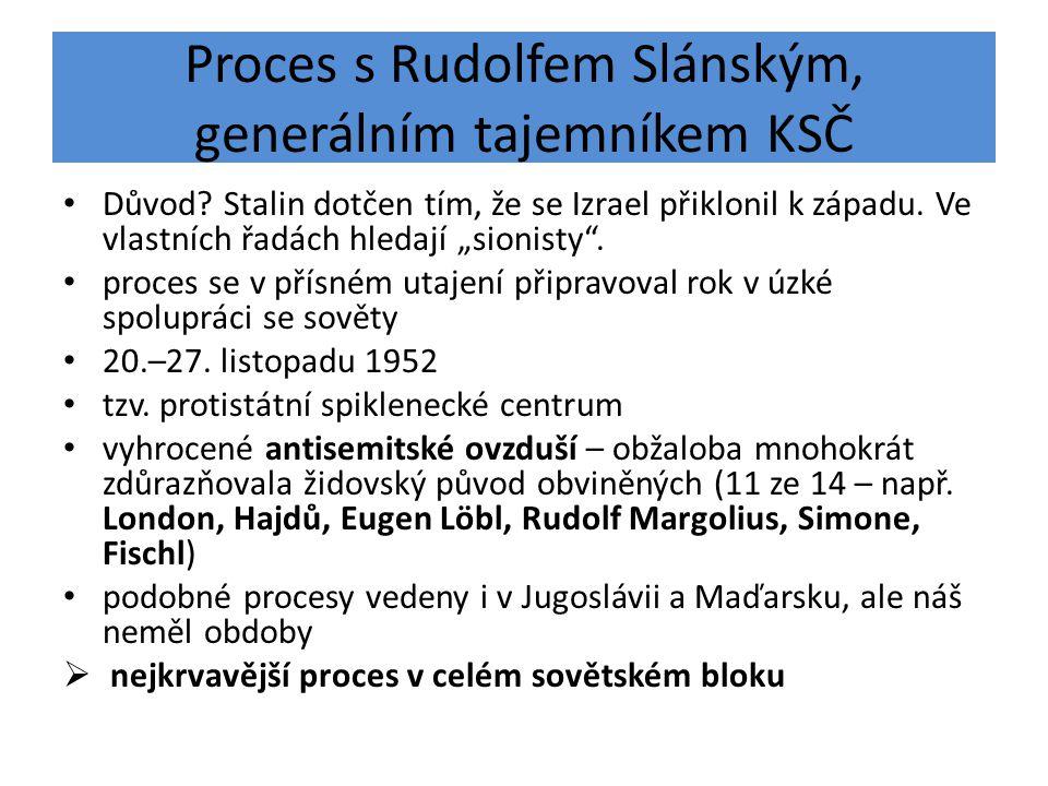 Proces s Rudolfem Slánským, generálním tajemníkem KSČ