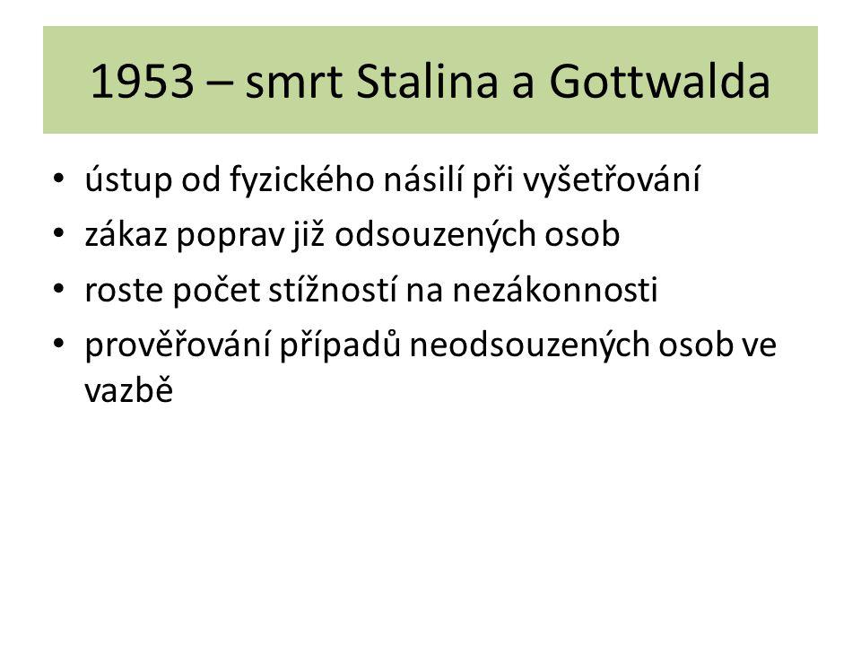 1953 – smrt Stalina a Gottwalda