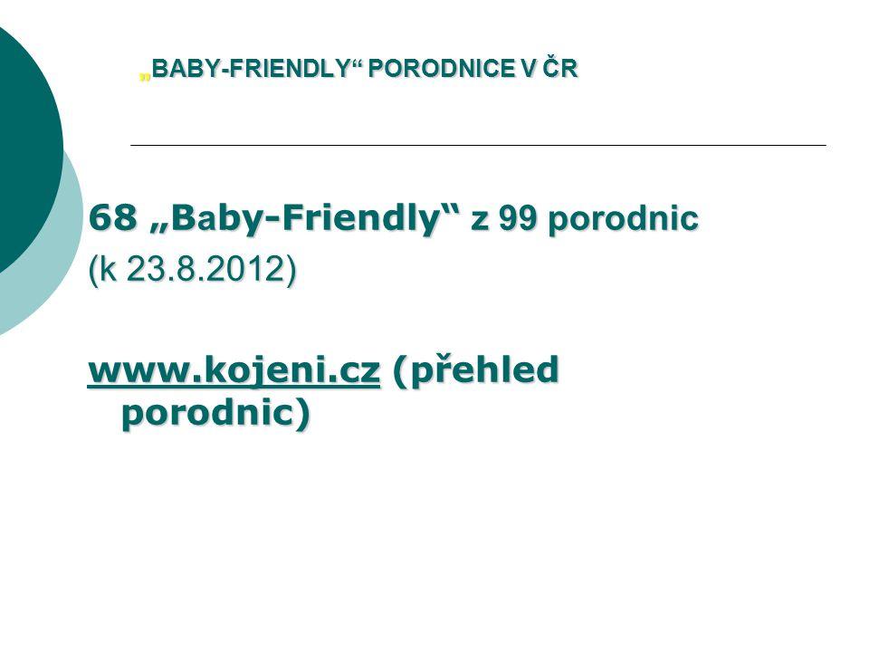 """""""BABY-FRIENDLY PORODNICE V ČR"""