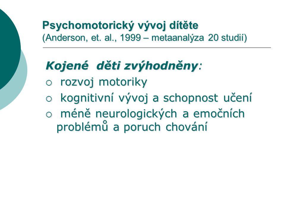 Psychomotorický vývoj dítěte (Anderson, et. al