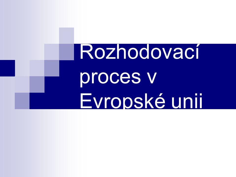 Rozhodovací proces v Evropské unii