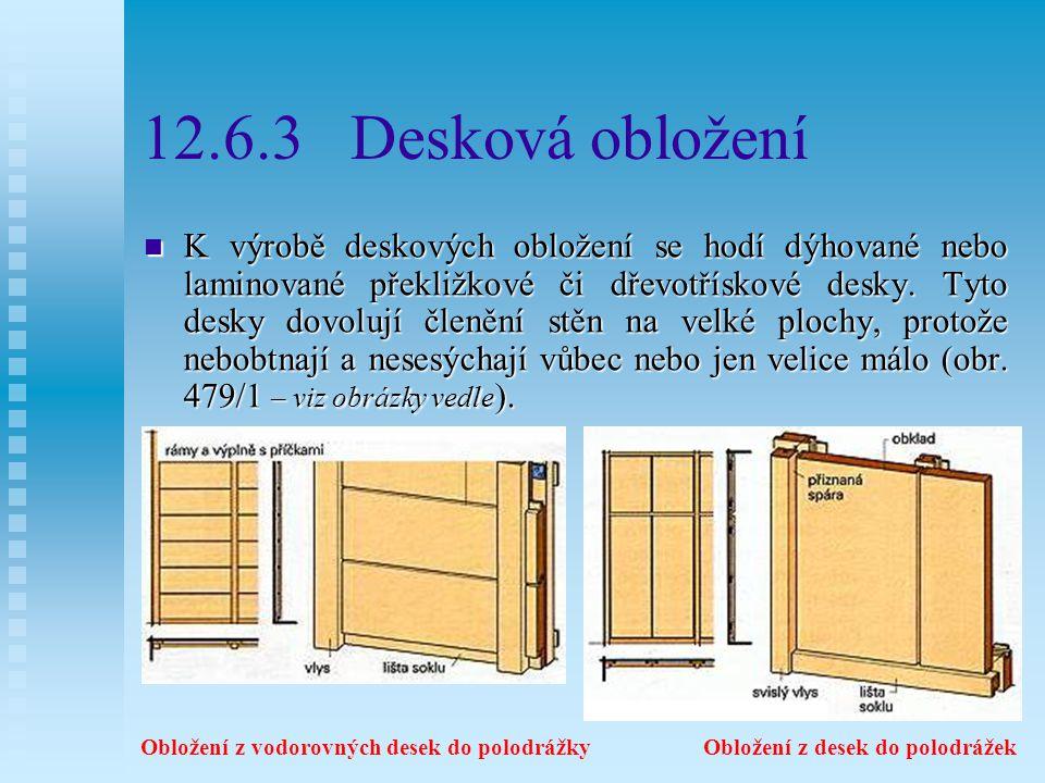 12.6.3 Desková obložení