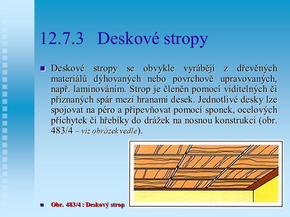 12.7.3 Deskové stropy