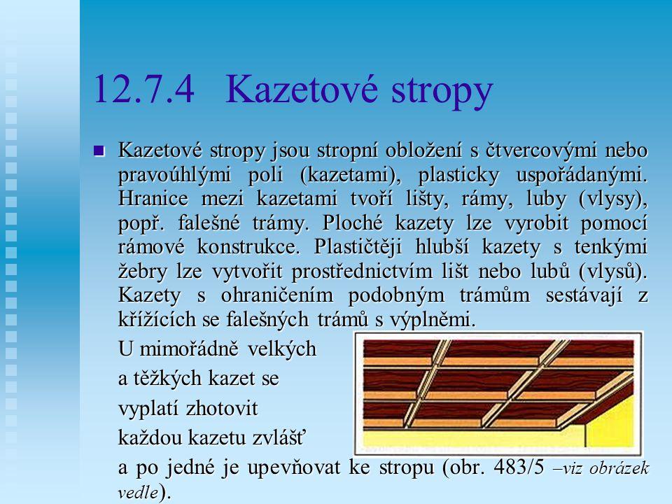 12.7.4 Kazetové stropy