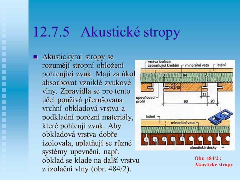12.7.5 Akustické stropy