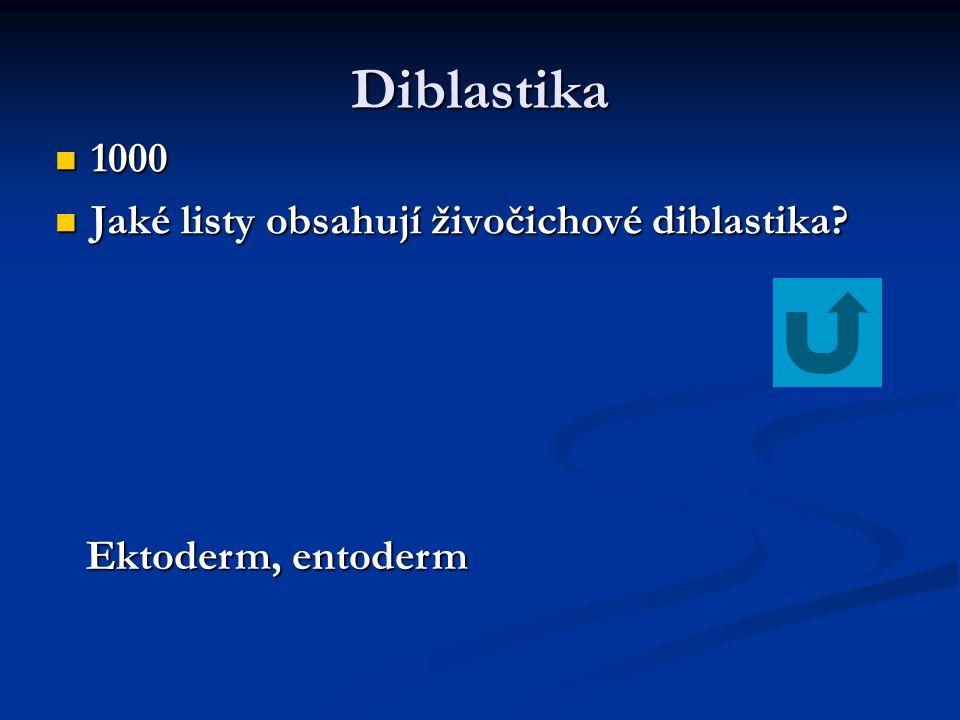 Diblastika 1000 Jaké listy obsahují živočichové diblastika