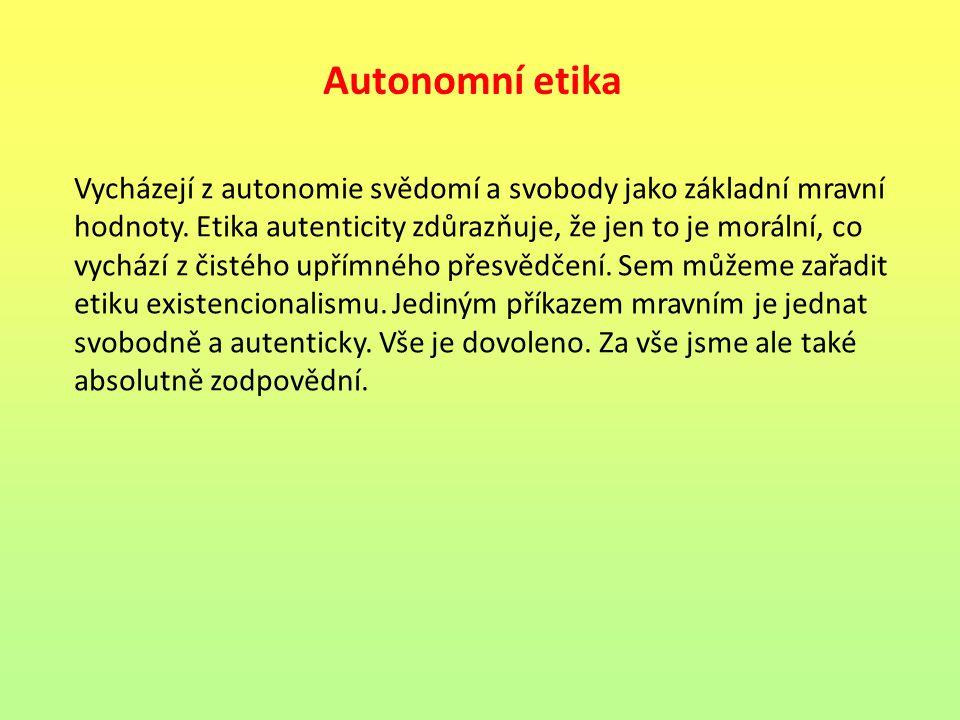 Autonomní etika