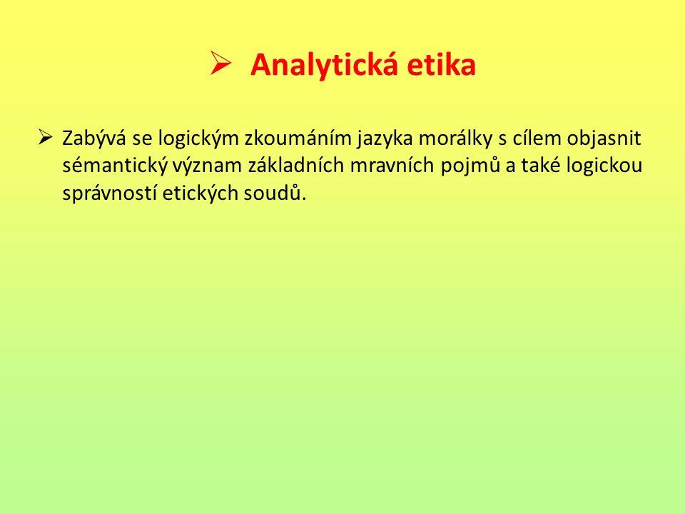 Analytická etika