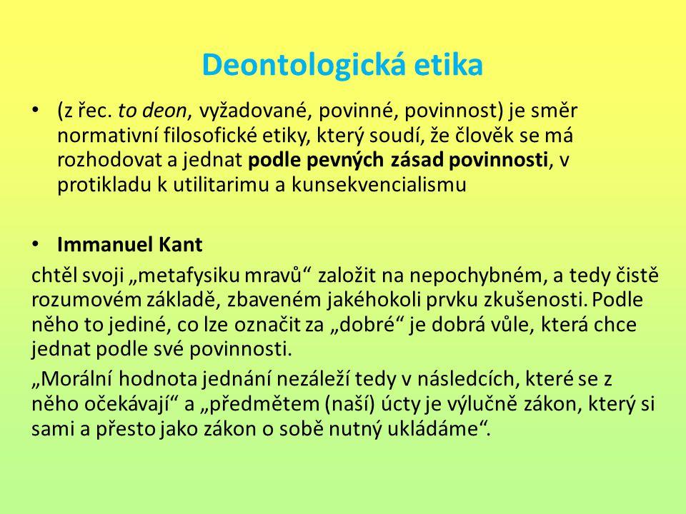 Deontologická etika
