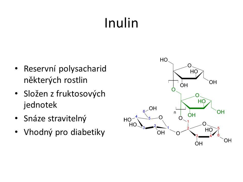 Inulin Reservní polysacharid některých rostlin