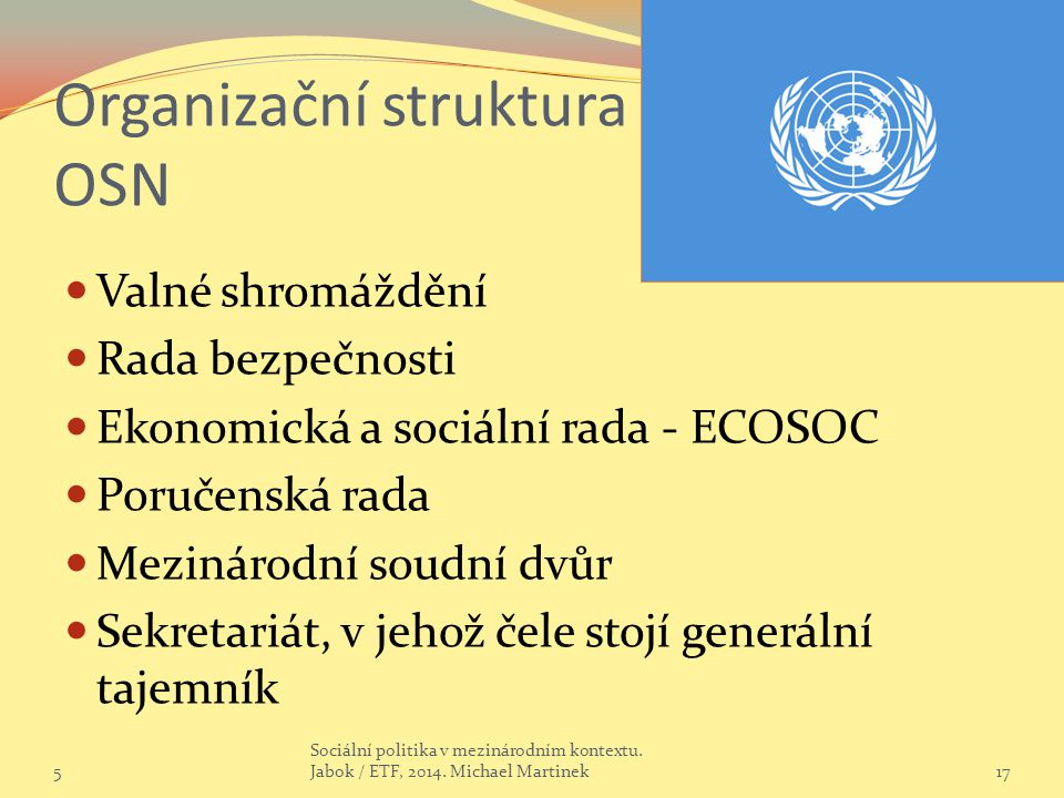 Organizační struktura OSN