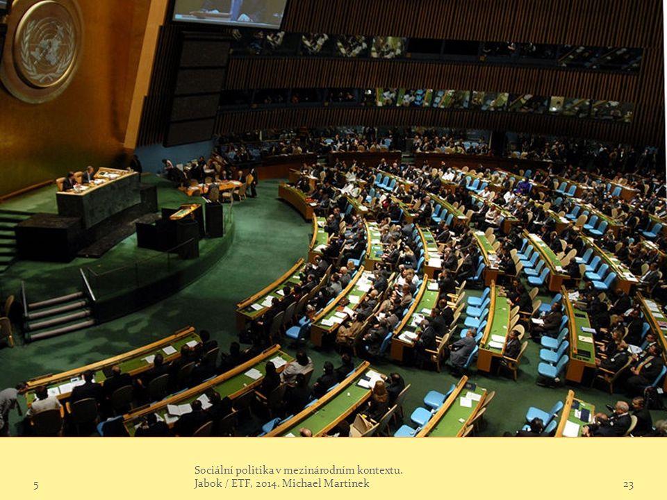 5 Sociální politika v mezinárodním kontextu. Jabok / ETF, 2014. Michael Martinek