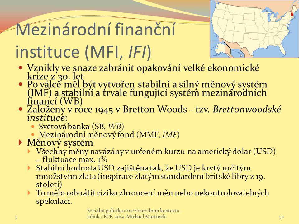 Mezinárodní finanční instituce (MFI, IFI)