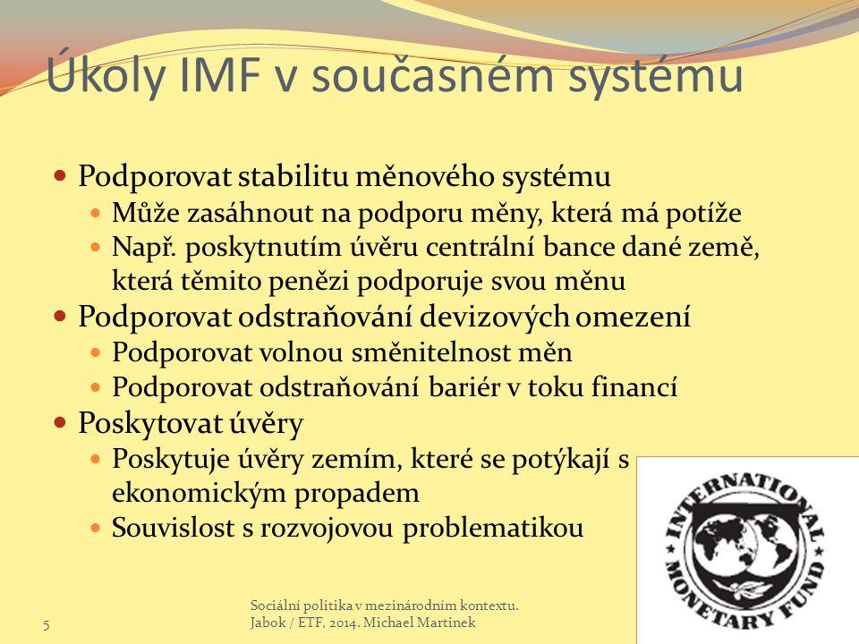 Úkoly IMF v současném systému