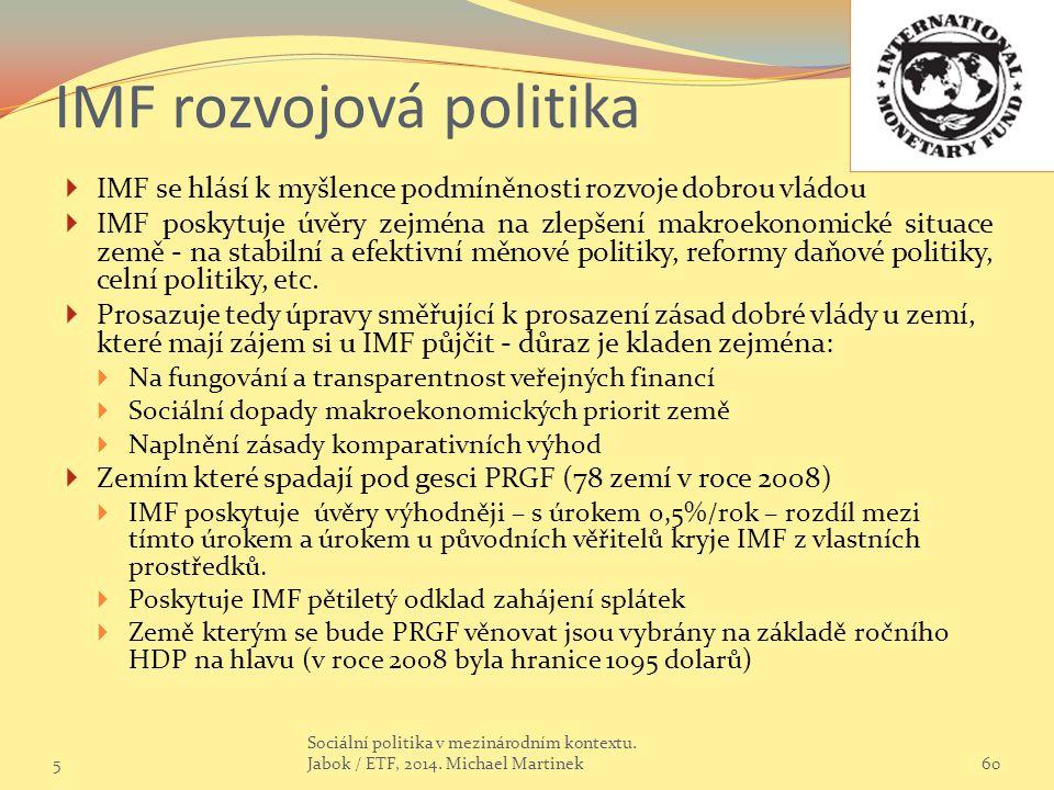 IMF rozvojová politika
