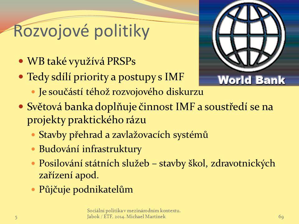 Rozvojové politiky WB také využívá PRSPs