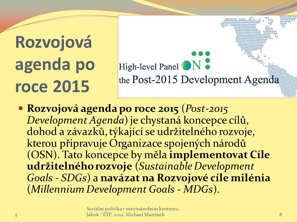 Rozvojová agenda po roce 2015