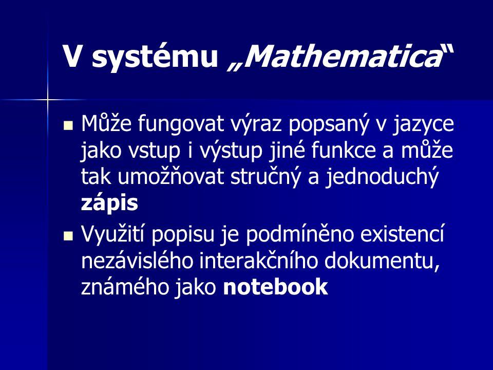 """V systému """"Mathematica"""