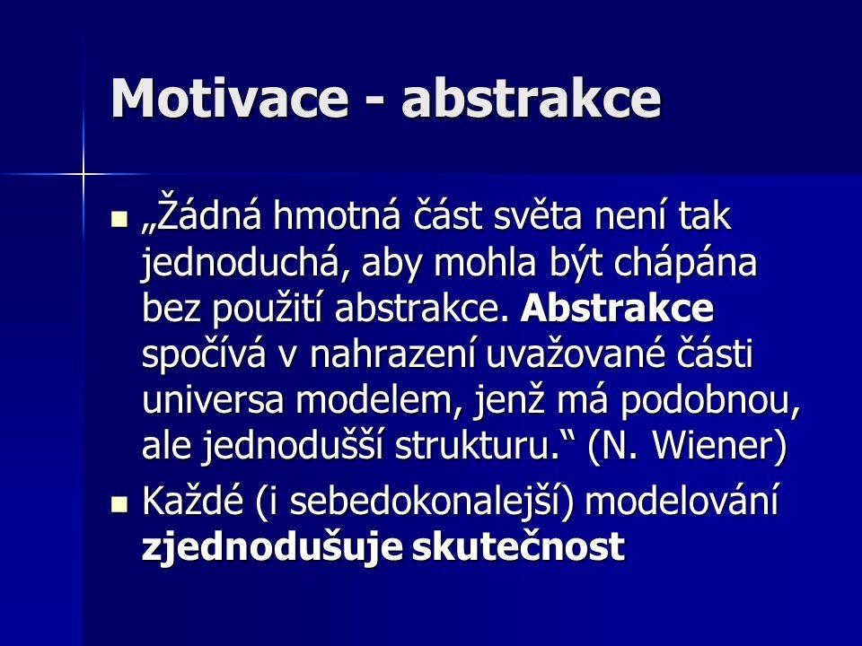 Motivace - abstrakce
