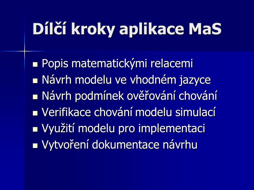 Dílčí kroky aplikace MaS