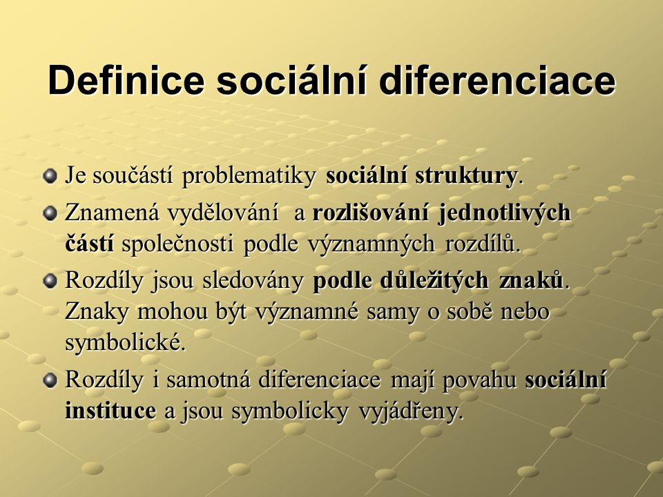 Definice sociální diferenciace