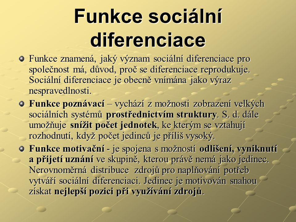 Funkce sociální diferenciace