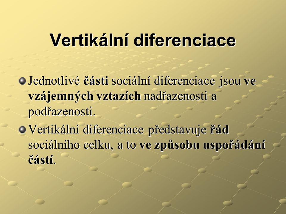 Vertikální diferenciace