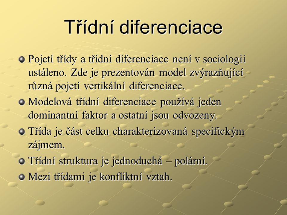 Třídní diferenciace