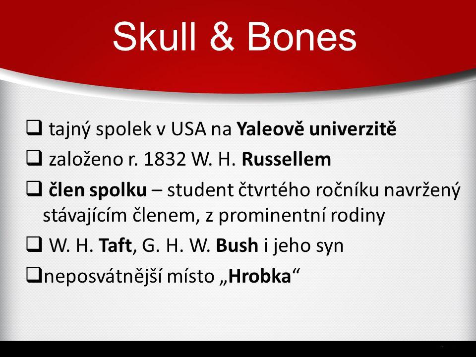 Skull & Bones tajný spolek v USA na Yaleově univerzitě