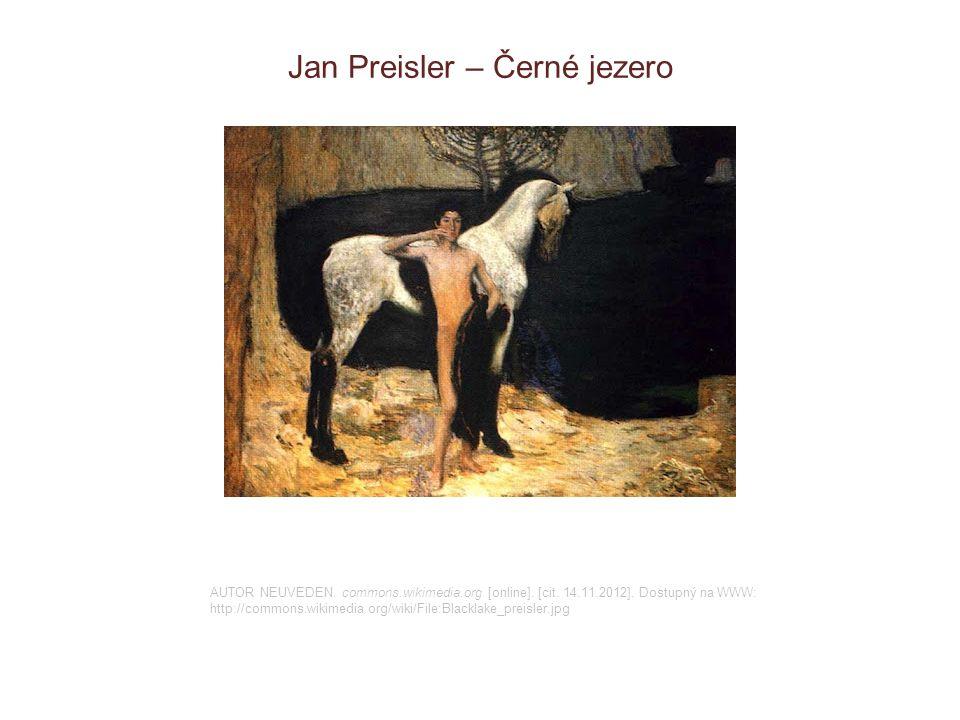 Jan Preisler – Černé jezero
