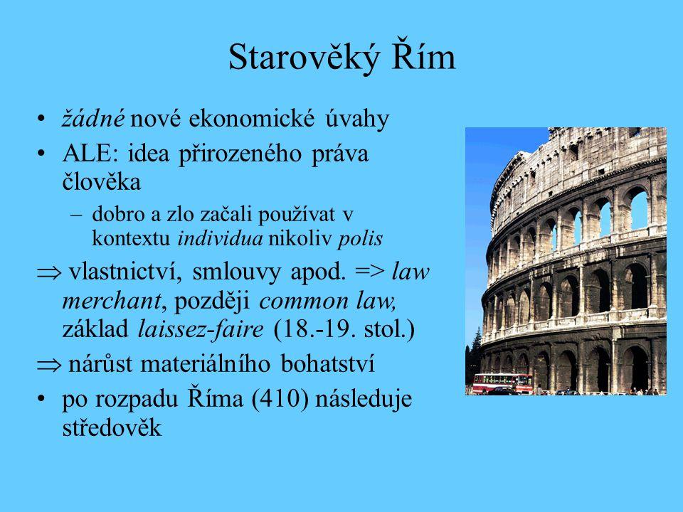 Starověký Řím žádné nové ekonomické úvahy