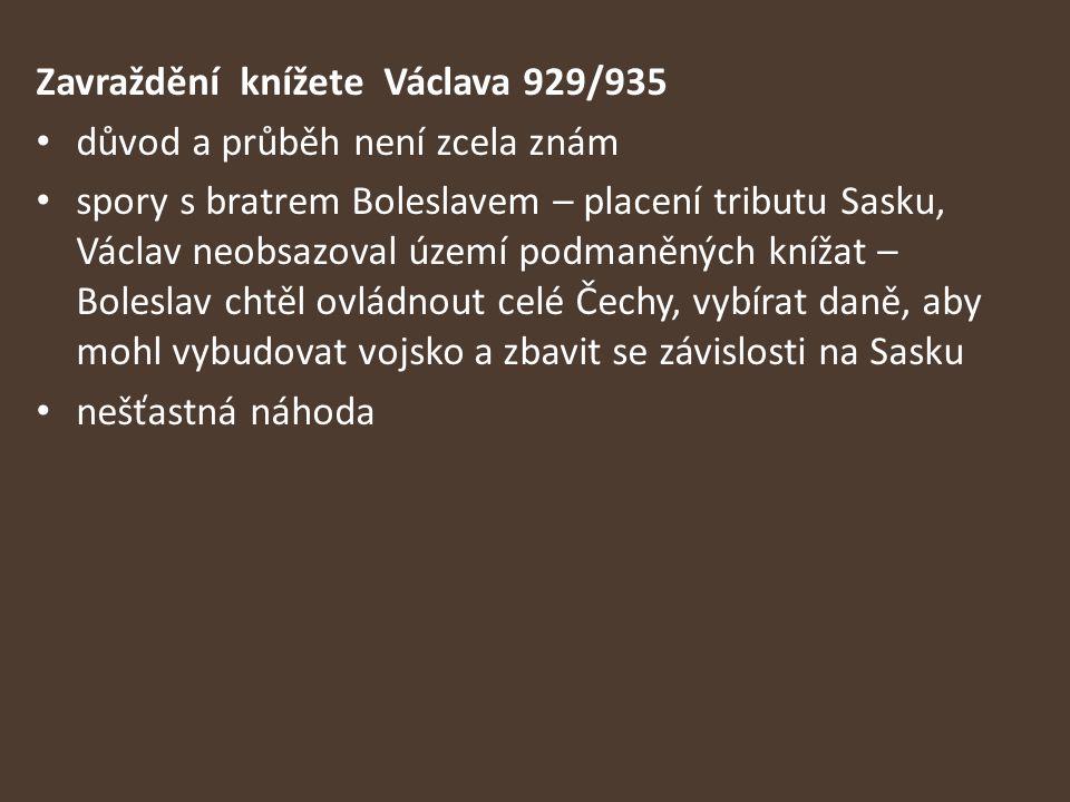 Zavraždění knížete Václava 929/935