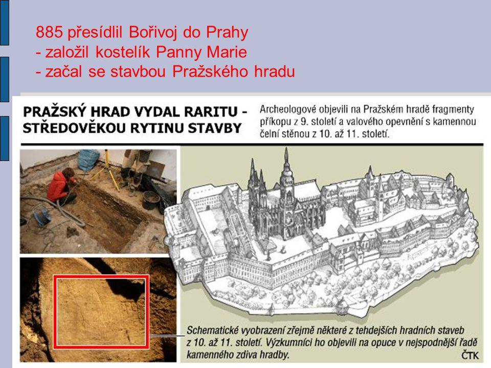 885 přesídlil Bořivoj do Prahy
