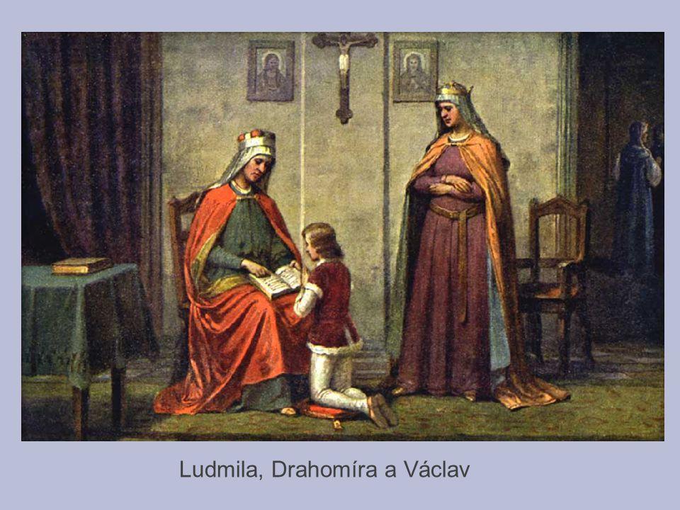 Ludmila, Drahomíra a Václav