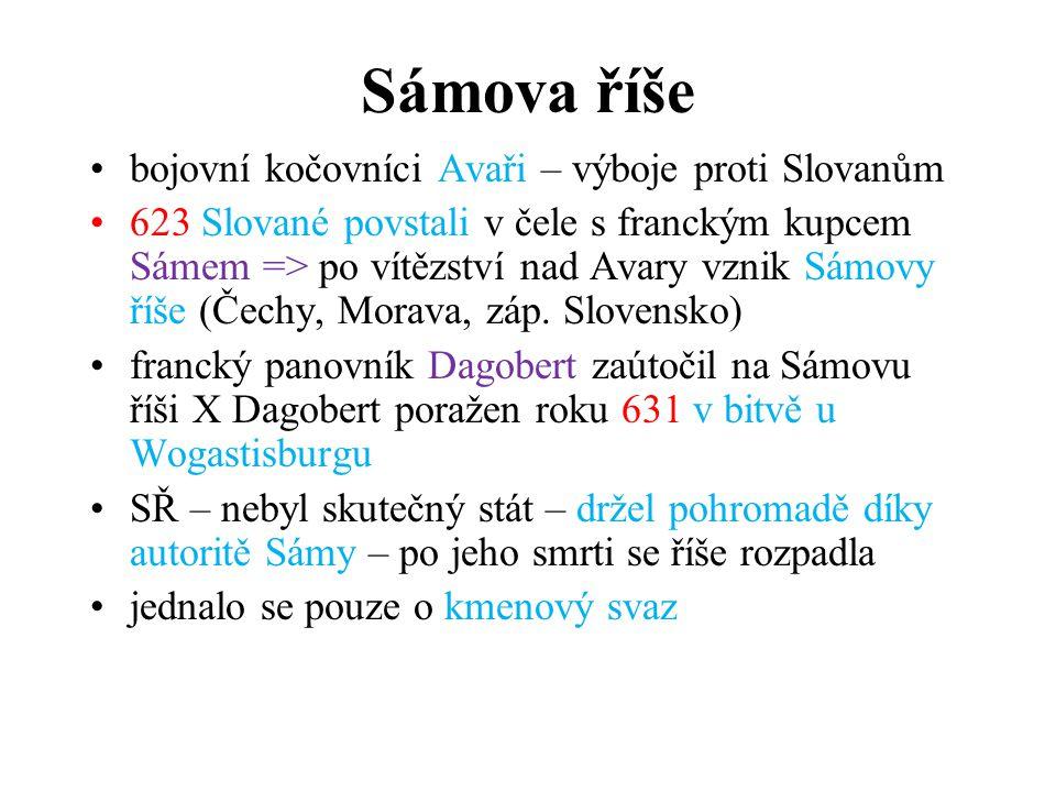 Sámova říše bojovní kočovníci Avaři – výboje proti Slovanům