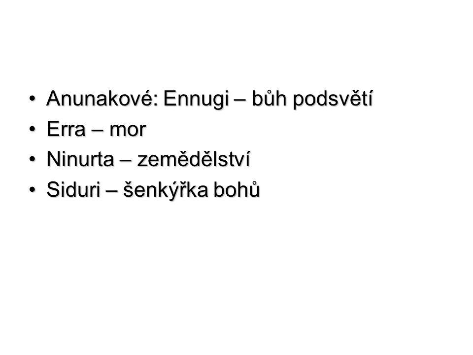Anunakové: Ennugi – bůh podsvětí