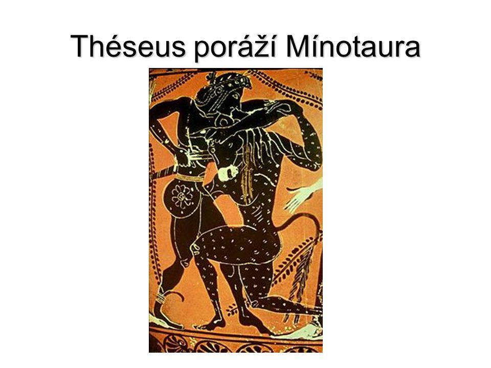 Théseus poráží Mínotaura