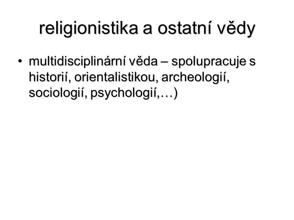 religionistika a ostatní vědy