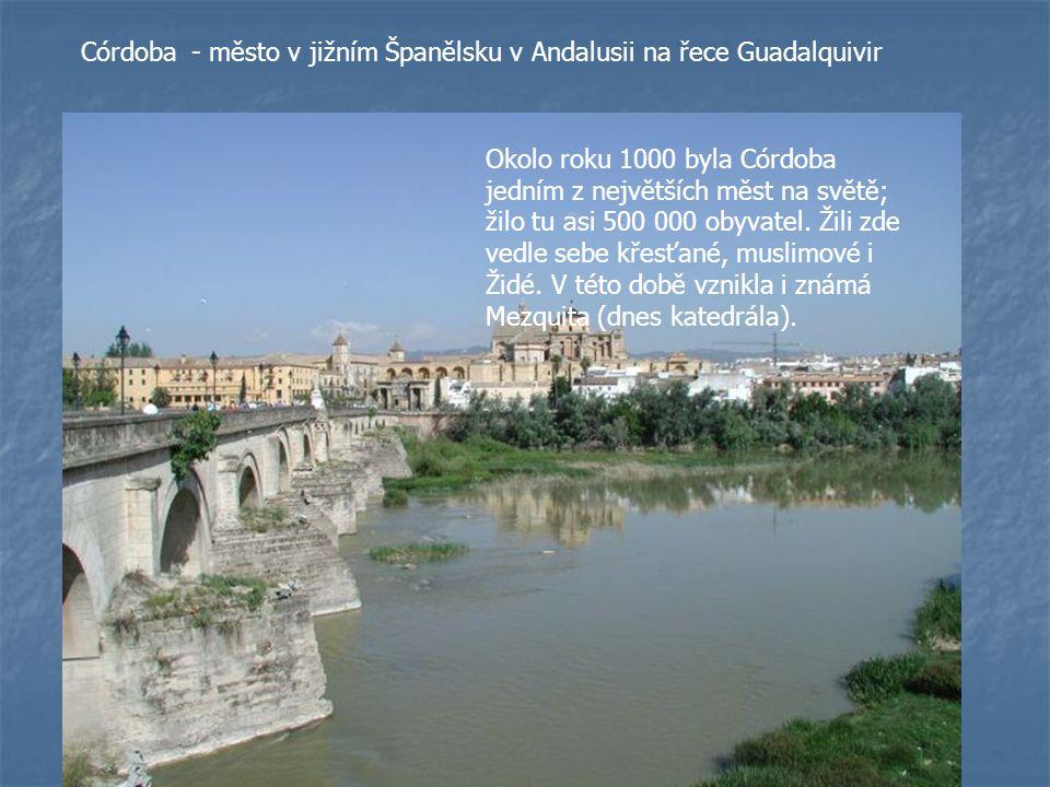 - město v jižním Španělsku v Andalusii na řece Guadalquivir
