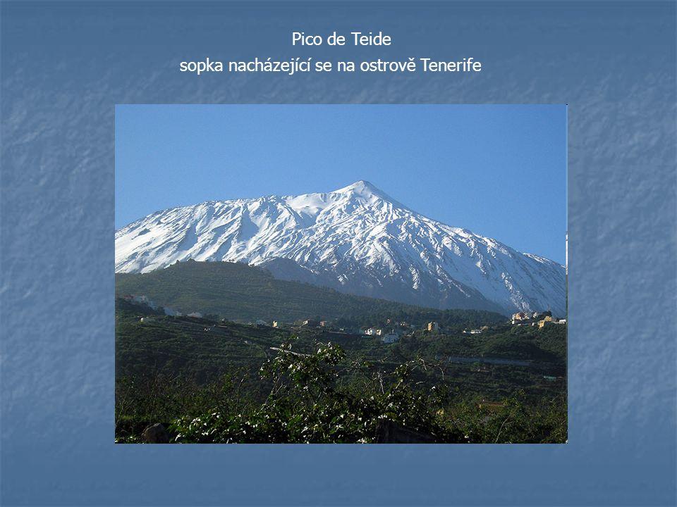 Pico de Teide sopka nacházející se na ostrově Tenerife