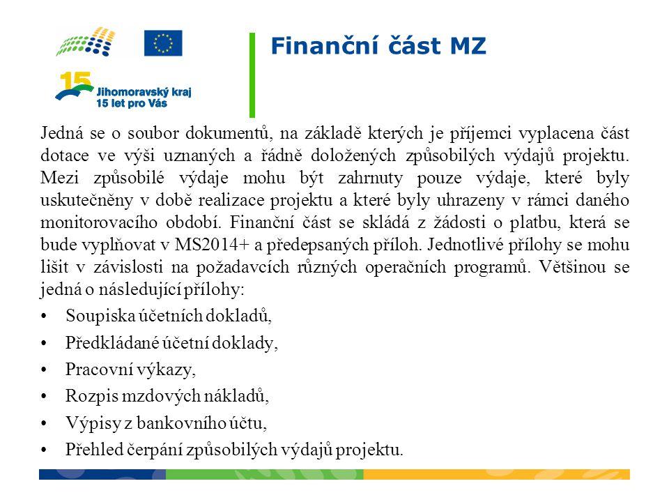 Finanční část MZ