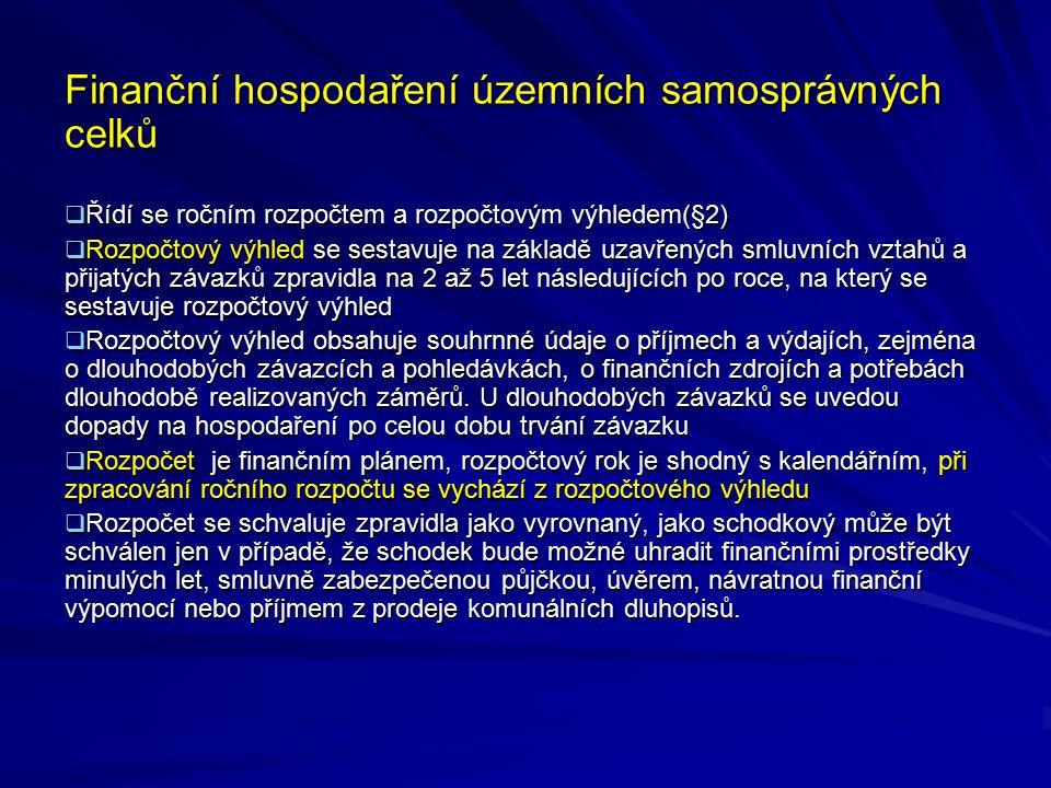 Finanční hospodaření územních samosprávných celků