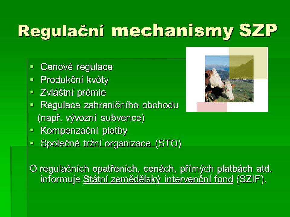Regulační mechanismy SZP