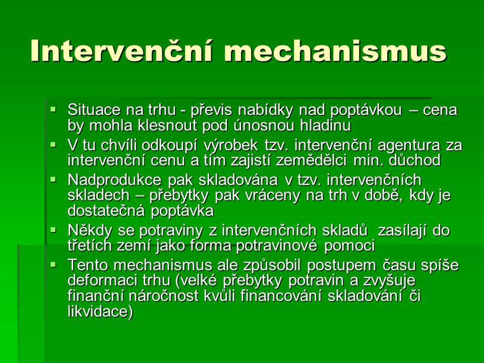 Intervenční mechanismus
